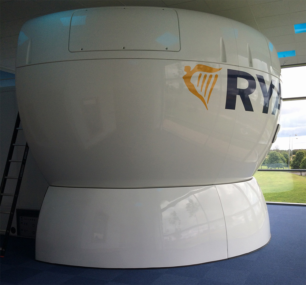 Ryanair-Simulator in simulator building